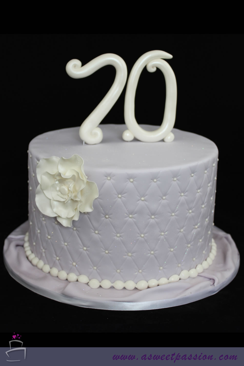 70th Lilac Birthday Cake Sweet Passion Cakery