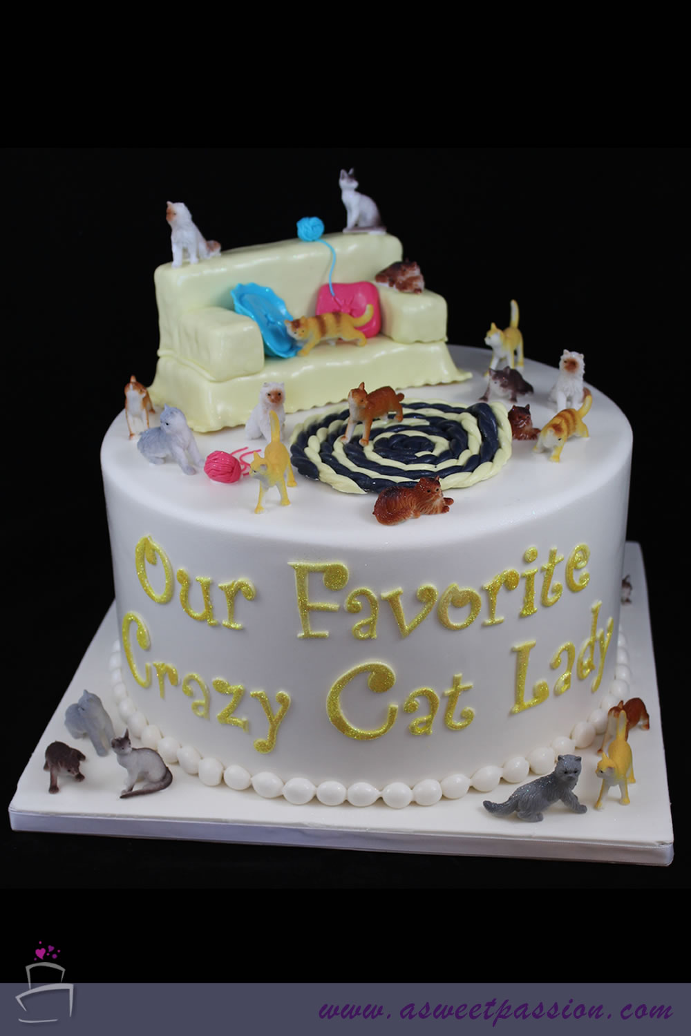 Crazy Cat Lady Cake Sweet Passion Cakery