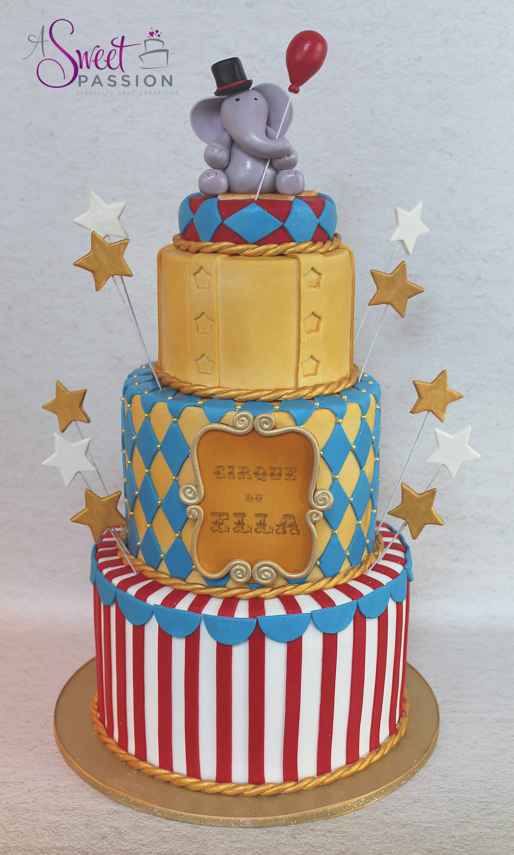 Circus Wedding Cake Topper