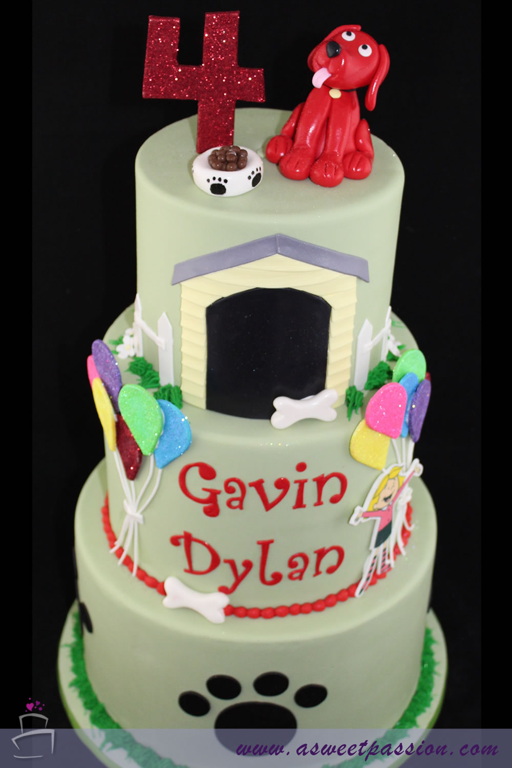 Clifford Cake Sweet Passion Cakery