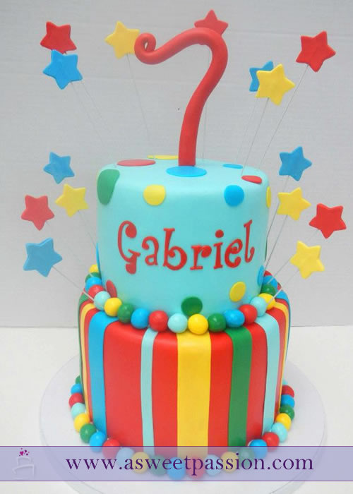 Colorful Birthday Cake Sweet Passion Cakery