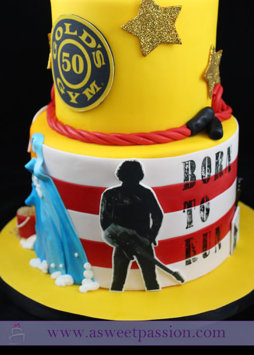 Admirable Gym Jersey Shore Bruce Springsteen Cake Sweet Passion Cakery Funny Birthday Cards Online Bapapcheapnameinfo