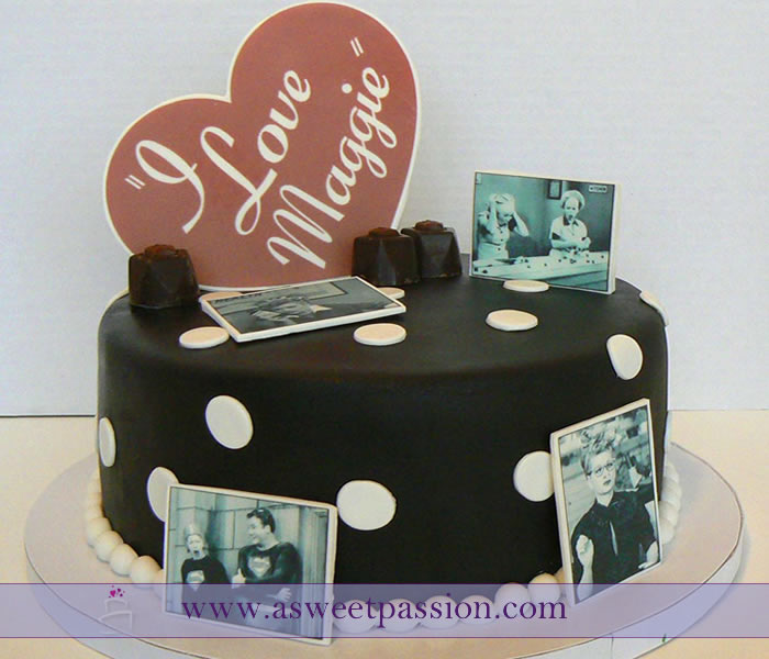I Love Lucy Birthday Cake
