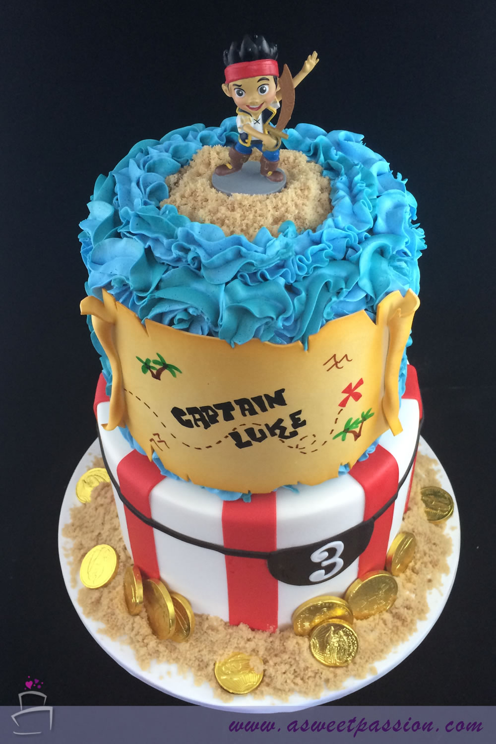 Enjoyable Jake And The Neverland Pirates Cake Sweet Passion Cakery Funny Birthday Cards Online Inifodamsfinfo