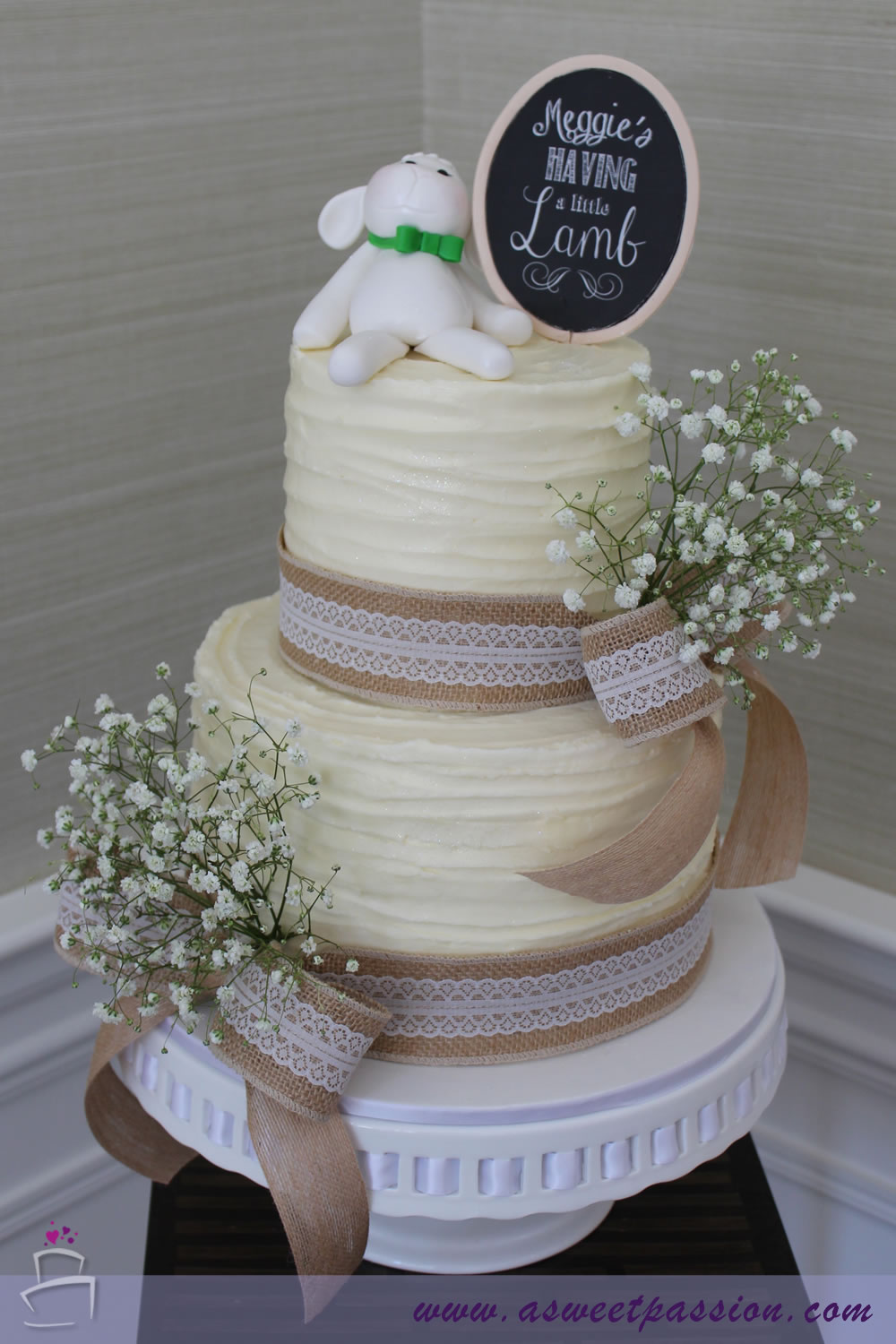 Shabby Chic Baby Shower Cake Topper