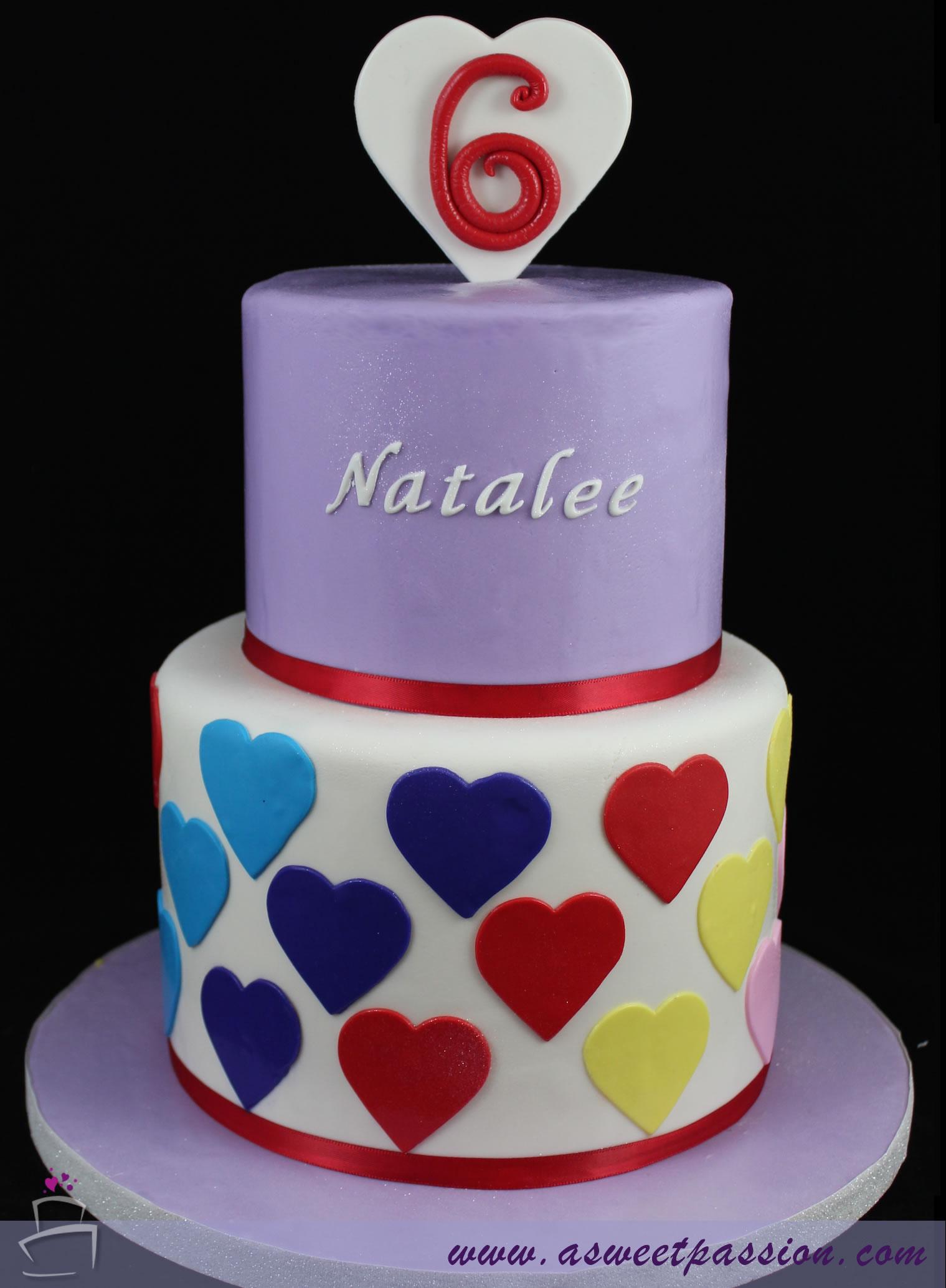 Superb Rainbow 6Th Birthday Cake Sweet Passion Cakery Personalised Birthday Cards Veneteletsinfo