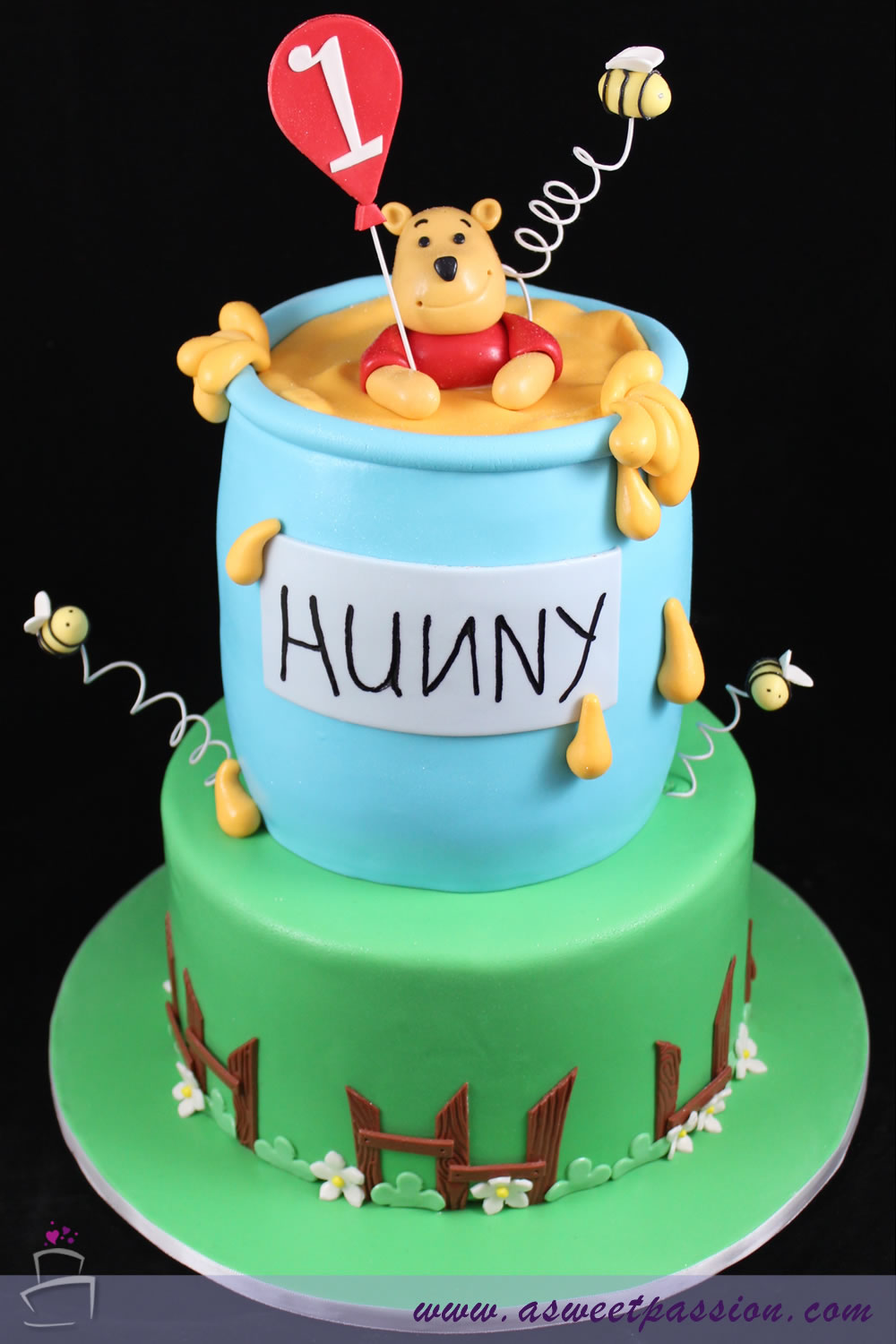 Peachy Winnie The Pooh Birthday Cake Sweet Passion Cakery Funny Birthday Cards Online Alyptdamsfinfo