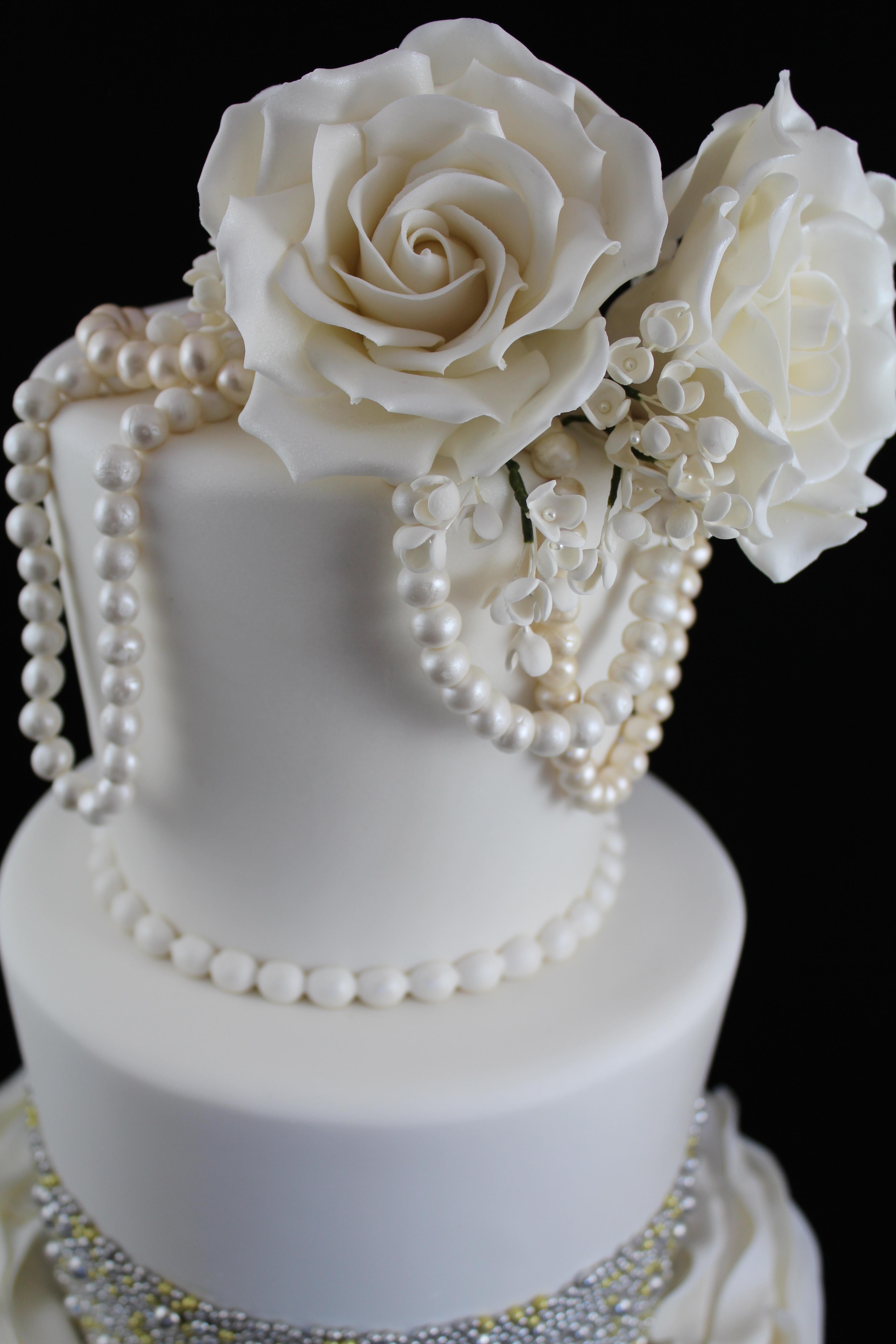 Ruffle Bridal Shower Cake – Sweet Passion Cakery