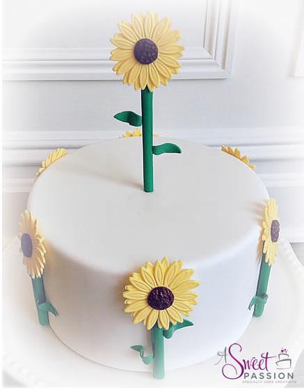Swell Sunflower Birthday Cake Sweet Passion Cakery Funny Birthday Cards Online Necthendildamsfinfo