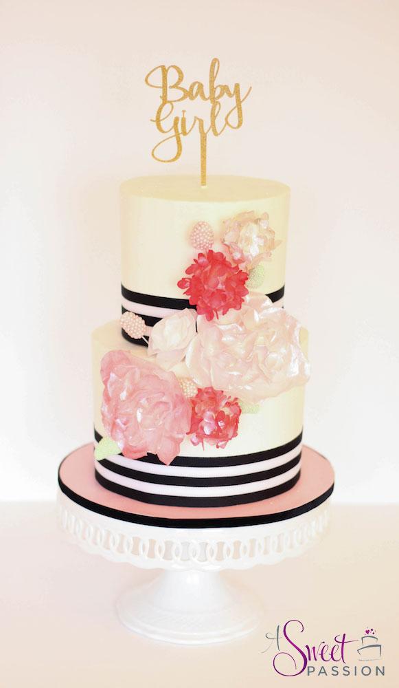 Buttercream Baby Shower Cake. This Kate Spade ...