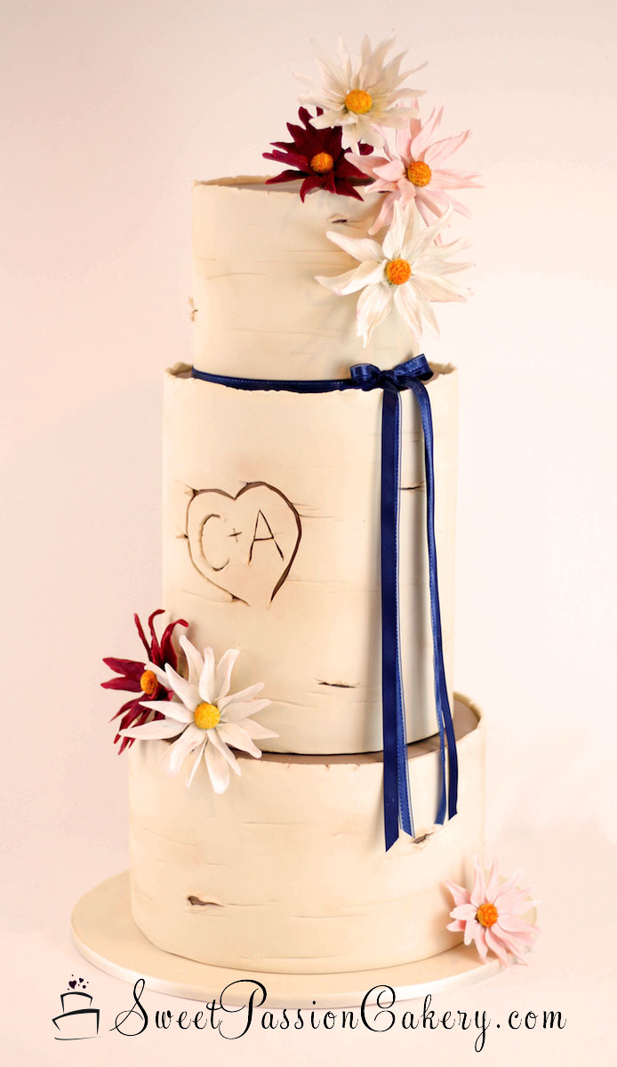 Birch Tree Wedding Cake | Birch Tree Wedding Cake Sweet Passion Cakery