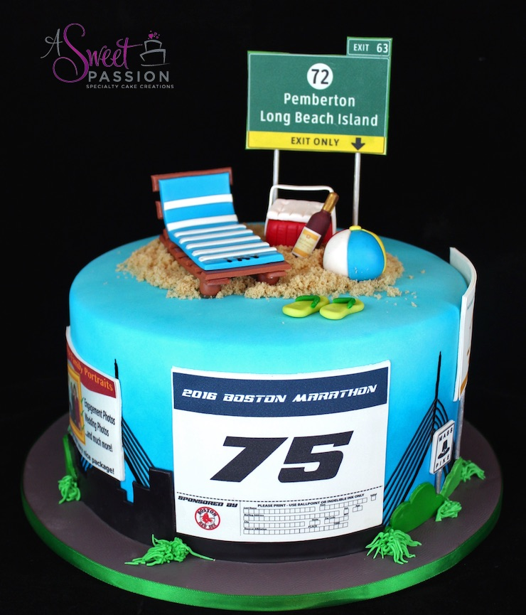 Boston Marathon Cake Sweet Passion Cakery