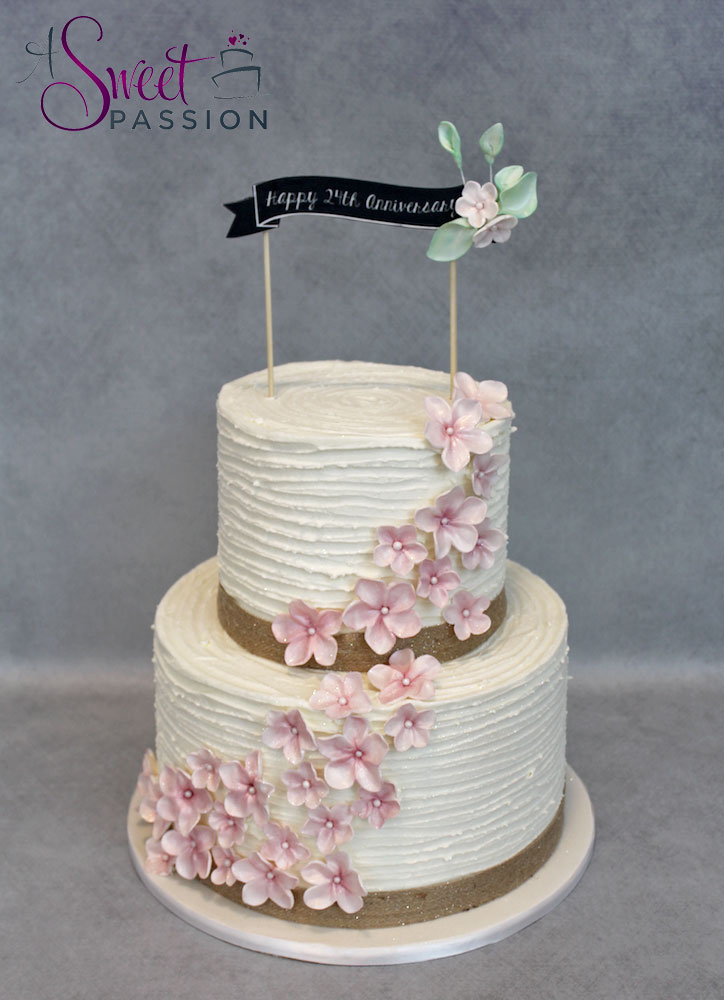 Rustic Buttercream Cherry Blossom Cake – Sweet Passion Cakery
