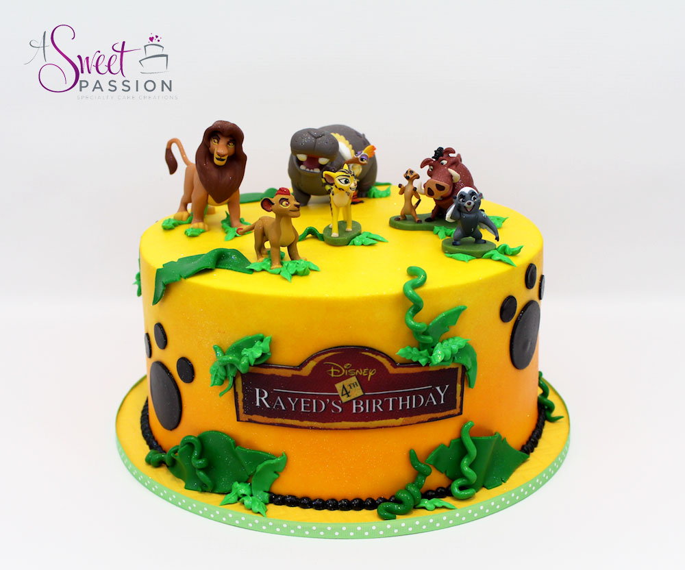 Lion Guard Cake Sweet Passion Cakery