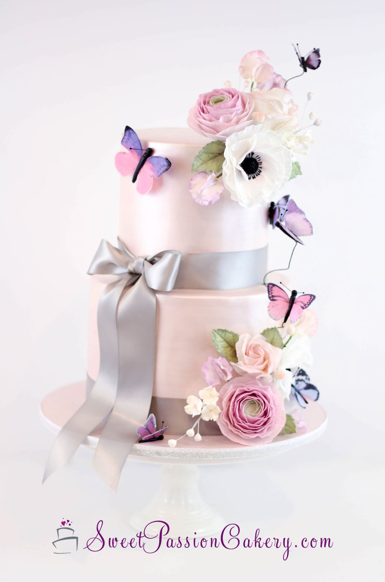 butterfly bridal shower cake
