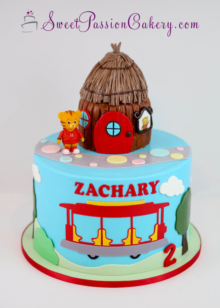 Miraculous Daniel Tiger Cake Sweet Passion Cakery Personalised Birthday Cards Paralily Jamesorg