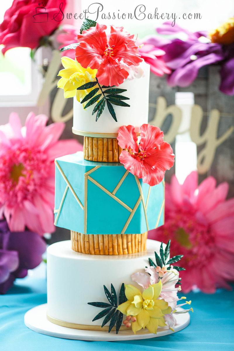 Hawaiian Wedding Cake.Luau Hawaiian Wedding Cake Sweet Passion Cakery