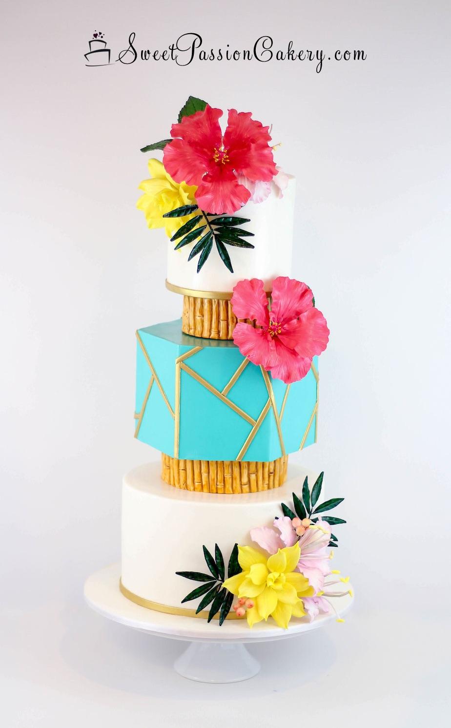 Surprising Luau Hawaiian Wedding Cake Sweet Passion Cakery Birthday Cards Printable Trancafe Filternl