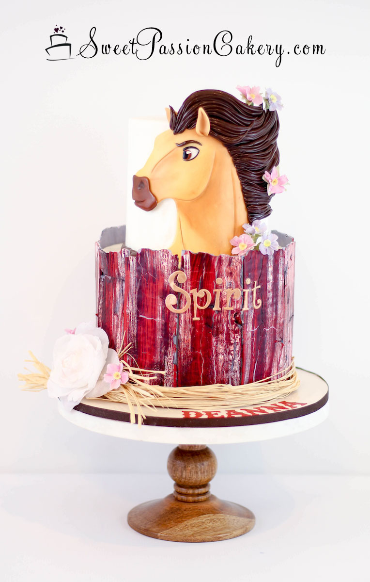 Spirit Horse Barn Cake Sweet Passion Cakery