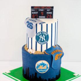 Dual Baseball Birthday Cake