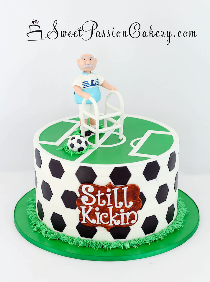 Wondrous Old Man Soccer Cake Sweet Passion Cakery Funny Birthday Cards Online Overcheapnameinfo