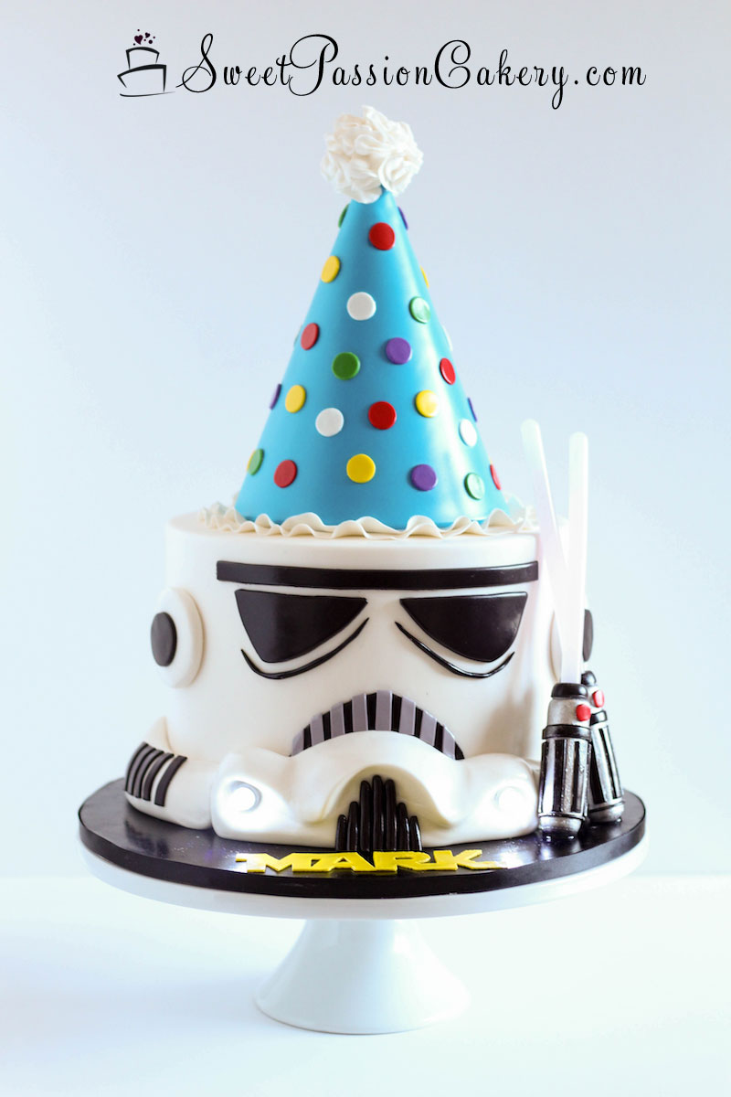 Astonishing Storm Trooper Cake Sweet Passion Cakery Personalised Birthday Cards Paralily Jamesorg