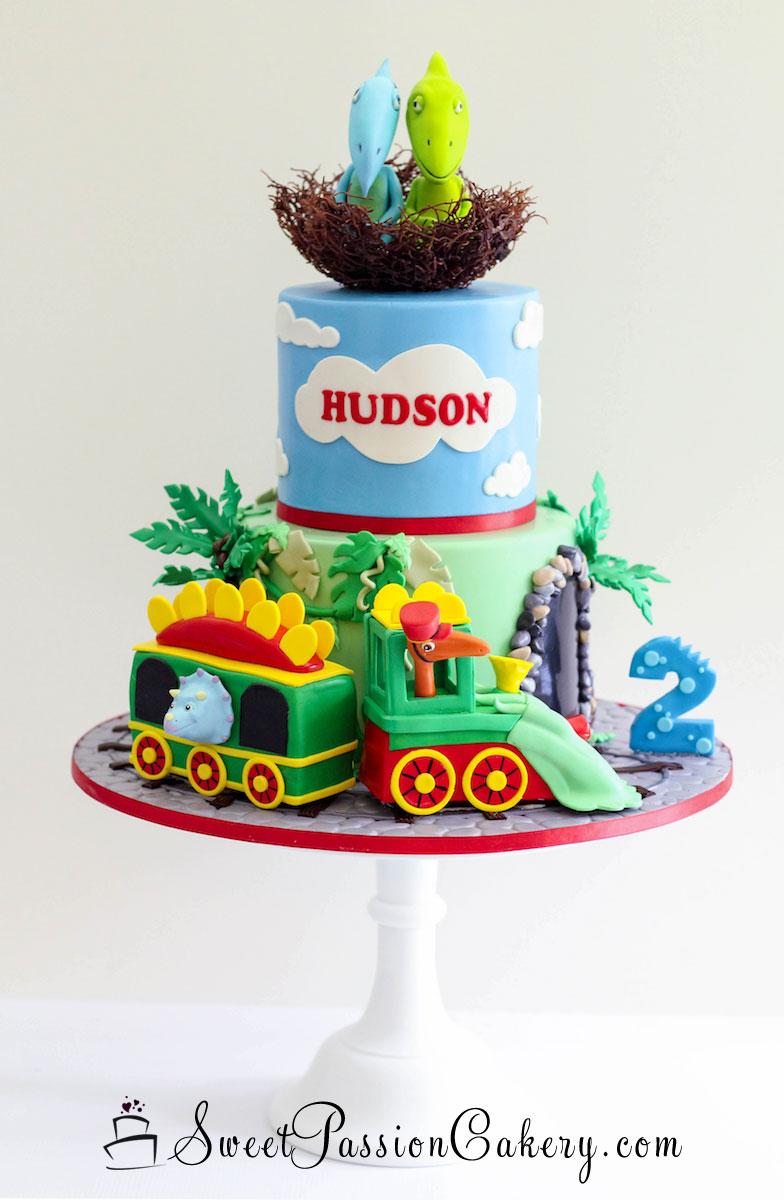 Superb Dinosaur Train Cake Sweet Passion Cakery Personalised Birthday Cards Veneteletsinfo