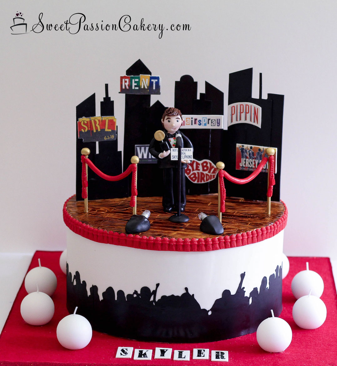 Fabulous Nyc Theater Award Cake Sweet Passion Cakery Personalised Birthday Cards Paralily Jamesorg