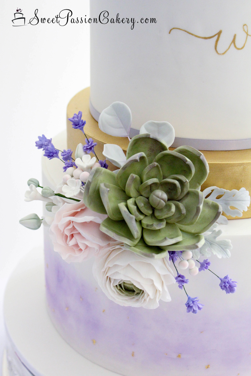 Lavender Succulent Cake Sweet Passion Cakery